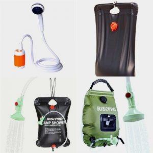 Las mejores duchas portátiles para acampada